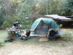 Although each camp setup is unique, this is fairly typical.