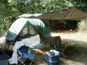 Another viewing angle of the typical camp set up.