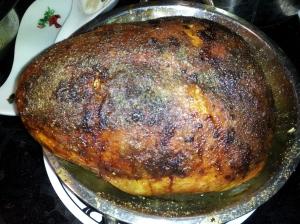 Smoked, Stuffed turkey breast. Incredible!